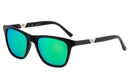 e6a15a425c Gafas de Sol Police S1800 DRIFT 3 703G NEGRO // VERDE AZUL ESPEJADO