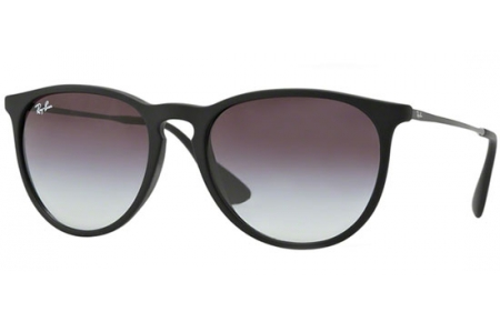 Sunglasses - Ray-Ban® - Ray-Ban® RB4171 ERIKA - 622/8G RUBBER BLACK // LIGHT GREY GRADIENT DARK GREY