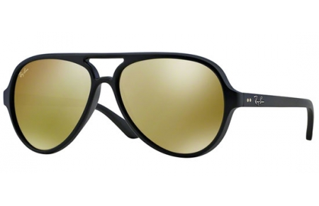 Gafas de Sol RayBan RB4125 CATS 5000 601S93 MATTE BLACK    BROWN ... 0f63ccecee86