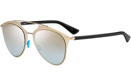 9ccebdcdf3 Gafas de Sol Dior DIORREFLECTED EEI (0H) LIGHT GOLD BLACK // GOLD ...