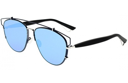 Sunglasses - Dior - DIORTECHNOLOGIC - PQU (A4) BLACK // BLUE MIRROR