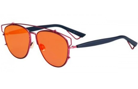 Sunglasses - Dior - DIORTECHNOLOGIC - TVH (MJ) MATTE VIOLET BLUE // ORANGE MIRROR