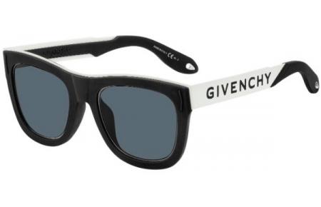 900b4c758d Gafas de Sol Givenchy GV 7016/N/S 80S (IR) BLACK WHITE // GREY BLUE