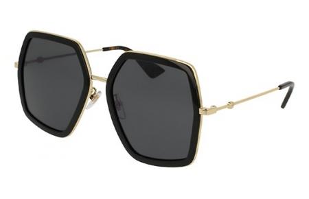 52c9e30c1 Gafas de Sol - Gucci - GG0106S - 001 BLACK GOLD // GREY