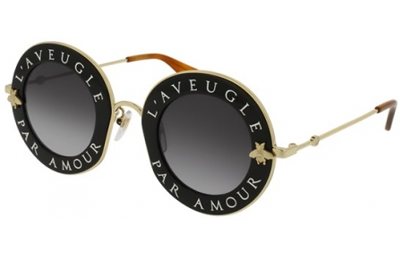 Sunglasses - Gucci - GG0113S - 001 BLACK // GREY GRADIENT