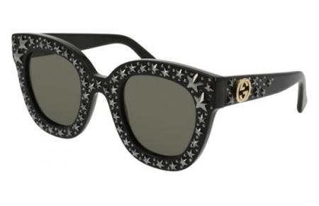 292b1e4cba9 Gafas de Sol - Gucci - GG0116S - 002 BLACK    GREY SILVER FLASH