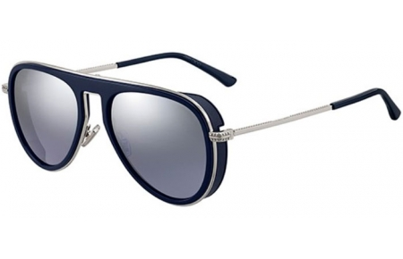 Sunglasses - Jimmy Choo - CARL/S - PJP (96) BLUE // LIGHT GREY SILVER MIRROR