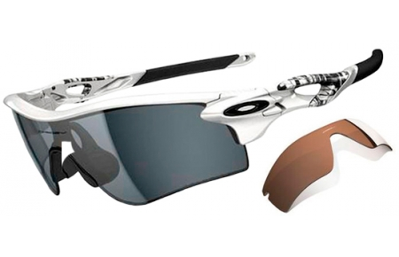 c0e7a865cb RADARLOCK PATH OO9181 - 9181-20. MATTE WHITE    GREY POLARIZED + VR28 BLACK  IRIDIUM. Sunglasses - Oakley ...