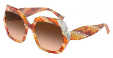 Sunglasses - Alain Mikli - A05054 EVANNE - 004/2L TORTOISE HORN YELLOW WHITE // BROWN GRADIENT