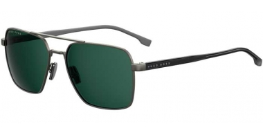 Sunglasses - BOSS Hugo Boss - BOSS 1045/S - SVK (QT) STEEL METAL BLACK // GREEN
