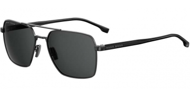 Sunglasses - BOSS Hugo Boss - BOSS 1045/S - V81 (IR) DARK RUTHENIUM BLACK // GREY