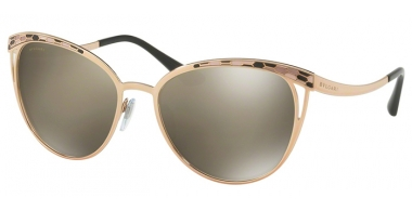 Sunglasses - Bvlgari - BV6083 - 20145A PINK GOLD // LIGHT BROWN MIRROR DARK GOLD