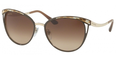 Sunglasses - Bvlgari - BV6083 - 203013 BROWN PALE GOLD // BROWN GRADIENT