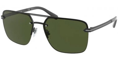 Sunglasses - Bvlgari - BV5054 - 128/G6 MATTE BLACK // DARK GREEN