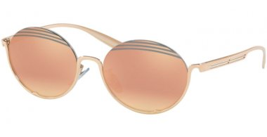 Sunglasses - Bvlgari - BV6119 - 20144Z ROSE GOLD // GREY MIRROR ROSE GOLD
