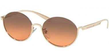 Sunglasses - Bvlgari - BV6119 - 278/18 PALE GOLD // ORANGE GRADIENT LIGHT GREY