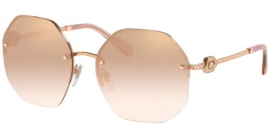 Sunglasses - Bvlgari - BV6122B - 20147I PINK GOLD // LIGHT BROWN MIRROR GRADIENT GOLD