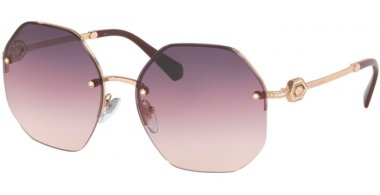 Sunglasses - Bvlgari - BV6122B - 2014U6 PINK GOLD // GRADIENT LIGHT BROWN PINK VIOLET