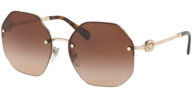 Sunglasses - Bvlgari - BV6122B - 278/13 PALE GOLD // BROWN GRADIENT