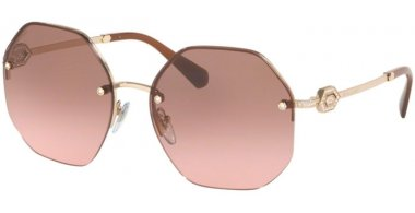 Sunglasses - Bvlgari - BV6122B - 278/14 PALE GOLD // PINK GRADIENT GREY