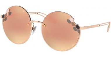 Sunglasses - Bvlgari - BV6124 - 20144Z PINK GOLD // GREY MIRROR ROSE GOLD