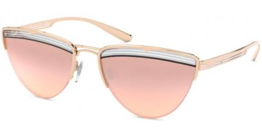 Sunglasses - Bvlgari - BV6145 - 20147E PINK GOLD CRYSTAL // LIGHT PINK GRADIENT MIRROR SILVER