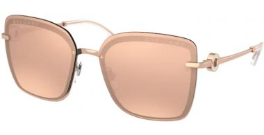 Sunglasses - Bvlgari - BV6151B - 20144Z PINK GOLD // CLEAR MIRROR REAL ROSE GOLD