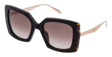 Sunglasses - Carolina Herrera New York - SHN616V - 0700  SHINY BLACK // BROWN GRADIENT