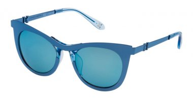 Lunettes de soleil - Carolina Herrera New York - SHN043M - R70B  SHINY BLUE // BROWN ICE MIRROR