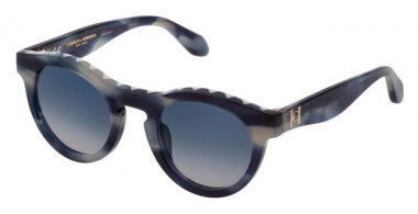 Sunglasses - Carolina Herrera New York - SHN607M - 06X8  STRIPED BLUE // BLUE GRADIENT