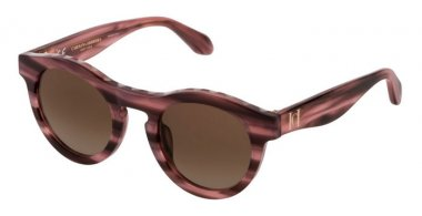 Sunglasses - Carolina Herrera New York - SHN607M - 06YS  SHINY STRIPED PINK // BROWN GRADIENT
