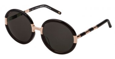 Sunglasses - Carolina Herrera New York - SHN609M - 0700  SHINY BLACK // GREY
