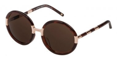 Sunglasses - Carolina Herrera New York - SHN609M - 09XK  SHINY DARK HAVANA // BROWN