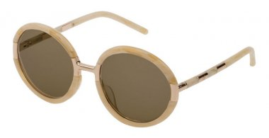Sunglasses - Carolina Herrera New York - SHN609M - 0AFW  SHINY WHITE HORN // YELLOW
