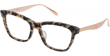 Frames - Carolina Herrera New York - VHN613M - 0D7B  SHINY WHITE BLACK TORTOISE