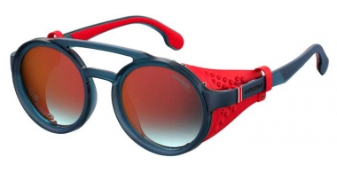 Sunglasses - Carrera - CARRERA 5046/S - IPQ (UZ) MATTE BLUE // RED MIRROR