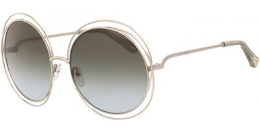 Sunglasses - Chloé - CE114SD CARLINA - 733 GOLD // GREEN GRADINET