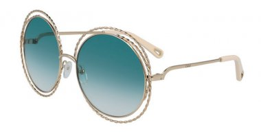 Sunglasses - Chloé - CE114ST CARLINA - 871 GOLD // PETROLEUM GRADIENT