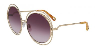 Sunglasses - Chloé - CE114ST CARLINA - 872 GOLD // AUBERGINE GRADIENT