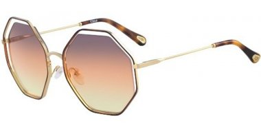 Lunettes de soleil - Chloé - CE132S POPPY - 259 HAVANA GOLD // GREY GRADIENT ORANGE YELLOW