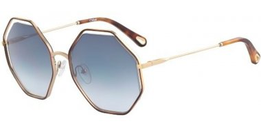 Sunglasses - Chloé - CE132S POPPY - 261 HAVANA GOLD // BLUE GRADIENT