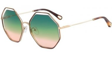 Sunglasses - Chloé - CE132S POPPY - 262 HAVANA GOLD // TROPICAL RAINVOW GRADIENT