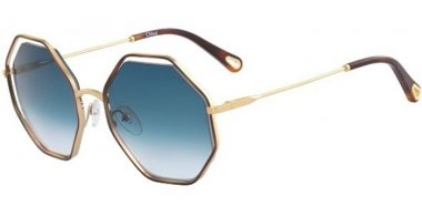 Sunglasses - Chloé - CE132S POPPY - 263 HAVANA GOLD // PETROLEUM GRADIENT