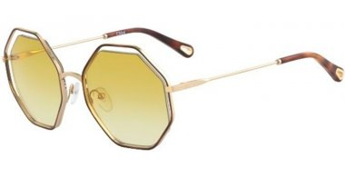 Sunglasses - Chloé - CE132S POPPY - 266 HAVANA GOLD // YELLOW GRADIENT
