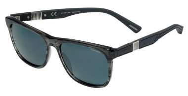 Sunglasses - Chopard - SCH236  - 1EXP  SHINY GREY STRIPED // SMOKE ANTIREFLECTION POLARIZED