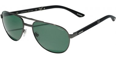 Sunglasses - Chopard - SCHB81  - 568P  SHINY GUNMETAL // GREY GREEN ANTIREFLECTION POLARIZED