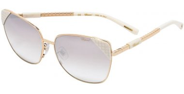 Sunglasses - Chopard - SCHC41  - 300X SHINY ROSE GOLD WHITE // VIOLET GRADIENT SILVER MIRROR ANTIREFLECTION