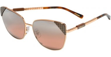 Sunglasses - Chopard - SCHC41  - 8FCX  SHINY COPPER GOLD BROWN // PINK GRADIENT SILVER MIRROR