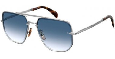 Sunglasses - David Beckam Eyewear - DB 7001/S - 010 (08) PALLADIUM // DARK BLUE GRADIENT
