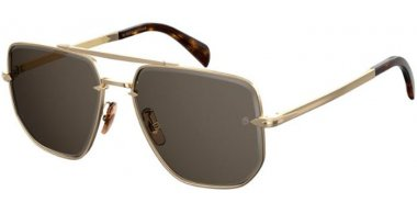 Sunglasses - David Beckam Eyewear - DB 7001/S - J5G (IR) GOLD // GREY
